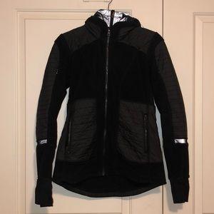 Lululemon Double Zipper Black Coat